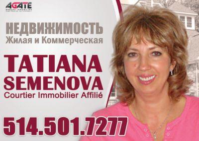 Татьяна Семенова. Courtier immobilier affilié